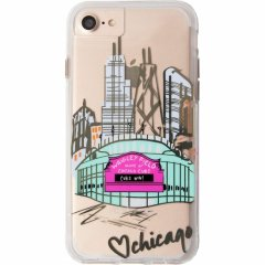 【iPhone8ケース デザイン・プリント】 iPhone8/7/6s/6  Hybrid Naked Tough City Print Chicago Play Ball