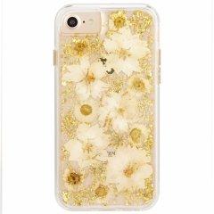 【iPhone8 ドライフラワーを使用!ハッピーでかわいいケース】iPhone8 /7/6s/6 Karat Petals - White