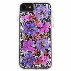 【iPhone8 ドライフラワーを使用!ハッピーでかわいいケース】iPhone8/7/6s/6 Karat Petals - Purple