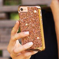 【iPhone8 水晶を使用した高級感あふれるプレミアムなケース】iPhone8/7/6s/6 Brilliance - Rose Gold