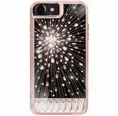 【iPhone8 ボタン操作でクリスタルが光り輝く!個性的でオシャレなケース】iPhone8/7/6s/6 Luminescent