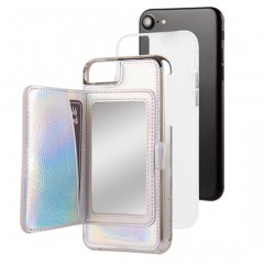 【iPhone8 コンパクトミラー付き 手鏡いらずのiPhoneケース】iPhone8/7/6s/6 Compact Mirror Case−Iridescent