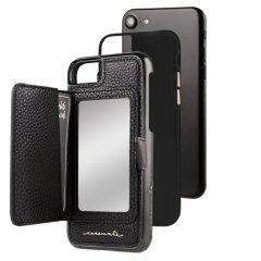 【iPhone8 コンパクトミラー付き 手鏡いらずのiPhoneケース】iPhone8/7/6s/6 Compact Mirror Case−Black