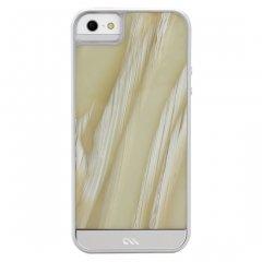 【象牙調の背面が高級感を醸し出すケース】 iPhone SE/5s/5 Crafted Case Acetates White Horn