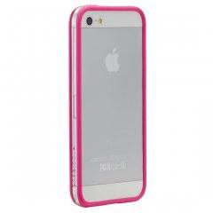 【さりげなく守るフレームスタイルケース】 iPhone SE/5s/5 Hula Pink フレームスタイルケース フラ ピンク