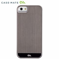 【金属調の高級感溢れるケース】 Case-Mate iPhone SE/5s/5 Crafted Case Brushed Alminum Gunmetal / Black