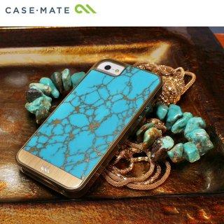 【天然石を使用した高級ケース】 iPhone SE/5s/5 Crafted Case Gemstone Turquoise / Gold