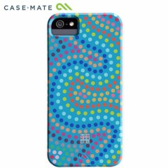 【デザインケース】 iPhone SE/5s/5 DESIGNER PRINTS BT Case Lou Kregel Electric Swirl Aqua