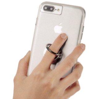 【自撮りにも最適! 指輪のような落下防止リング】Selfie Ring - Silver