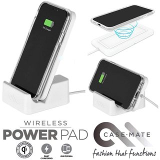 【Qi ワイヤレス充電器 ファーストチャージ対応】Wireless Power Pad with Stand - White