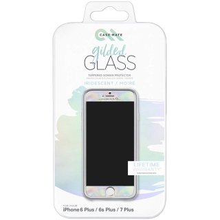 【美しく液晶画面を保護する硬度9Hの強化ガラス】 iPhone8 Plus/ 7 Plus/6s Plus/6 Plus Glass Screen Protector Iridescent