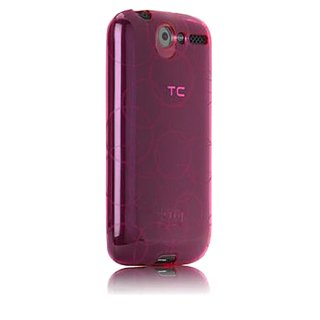 【シンプルなソフトケース】 SoftBank X06HT/HTC Desire Gelli Case - Female Circles Pink