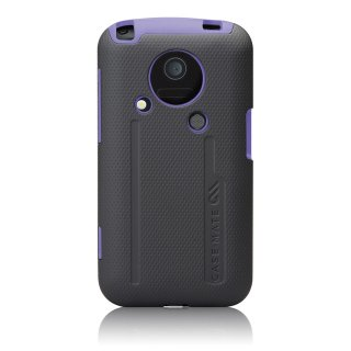 【衝撃に強いケース】 au IS03 Hybrid Tough Case with Screen Protector Black / Purple