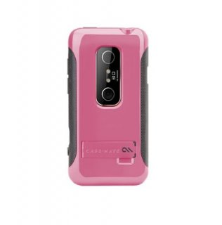 【2種の素材を使ったハードケース】 HTC EVO 3D ISW12HT POP Hybrid Seamless Case Pink/Grey