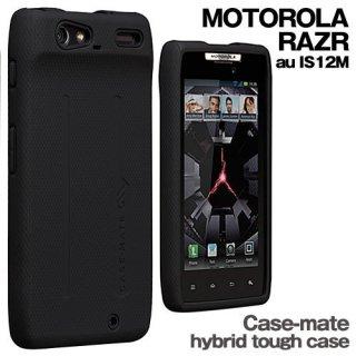 【衝撃に強いケース】 MOTOROLA RAZR au IS12M Hybrid Tough Case Black/Black