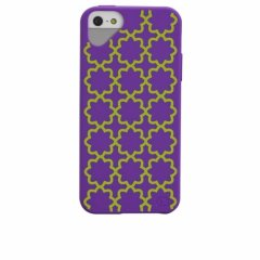iPhone SE/5s/5 対応ケース Cloud Print Case, Purple with Daisy Print