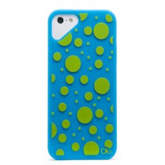 iPhone SE/5s/5 対応ケース Fashioned Case, Dot / Turquoise