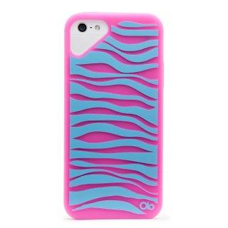 iPhone SE/5s/5 対応ケース Fashioned Case, Zebra / Pink Rhodomine
