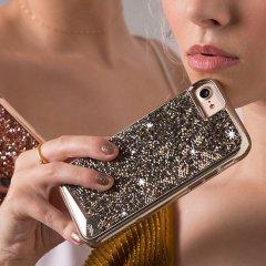 【iPhone8 ケース 水晶を使用】 iPhone 8/7/6s/6 Brilliance Case Champagne ブリリアンス ケース シャンパン