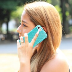 【iPhone8/7 ケース 2層構造のクリアータイプ】 iPhone8/7/6s/6 Hybrid Tough Translucent Case Clear / Green
