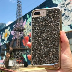 【iPhone8 Plus ケース 水晶を使用】 iPhone8Plus/7 Plus/6s Plus/6 Plus Brilliance Case Champagne