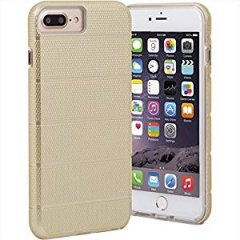 【iPhone8 Plus ケース 2層構造で保護】 iPhone8 Plus/7 Plus/6s Plus/6 Plus Hybrid Tough Mag Case Gold / Clear