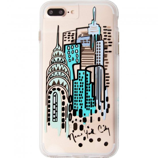 ce072d399d デザインプリント iPhone8 Plus/7 Plus/6s Plus/6 Plus Hybrid Naked Tough City Print  NY City View