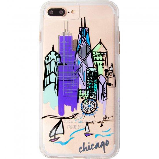 de85022027 【iPhone8 Plus デザイン・プリント】iPhone8 Plus/7 Plus/6s Plus/6 Plus Hybrid Naked  Tough City Print Chicago