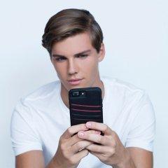 【iPhone8 Plus オシャレ 通勤通学に最適なケース!】iPhone8 Plus/7 Plus/6s Plus/6 Plus Tough ID Case - Black