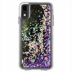 【暗闇で光を放つ幻想的なケース】iPhoneXR Waterfall-Purple Glow