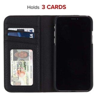 【カードや紙幣が収納できる手帳型ケース】iPhoneXR Wallet Folio-Black