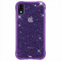 【クリスタルのきらめきが美しい】iPhoneXR Sheer Crystal-Purple