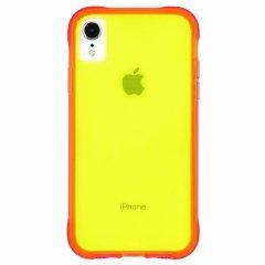 【大胆なネオンカラーがインパクト大!】iPhone XR  Tough Clear - Neon Green/Neon Pink