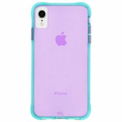 【大胆なネオンカラーがインパクト大!】iPhone XR  Tough Clear - Neon Turquoise / Neon Purple