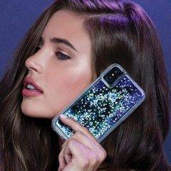 【暗闇で光を放つ幻想的なケース】iPhoneXS Max Waterfall-Purple Glow