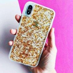 【 ロースゴールドの金箔を大胆にデザイン】iPhoneXS Max Karat-Rose Gold