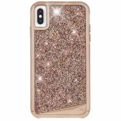 【水晶を使用した高級感あふれるプレミアムなケース】iPhoneXS Max Brilliance-Rose Gold