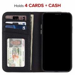 【カードや紙幣が収納できる手帳型ケース】iPhoneXS Max Wallet Folio-Black