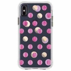 【メタリックドットが印象的なケース】iPhoneXS Max Wallpapers-Pink Dot