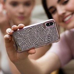 【水晶を使用した高級感あふれるプレミアムなケース】iPhoneXS/X Brilliance - Lace