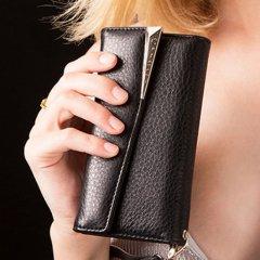 【本革仕様 ハンドバックのような使いやすさ】iPhoneXS/X Wristlets Folio−Black