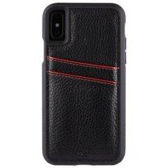 【オシャレ 通勤通学に最適なケース!】iPhoneXS/X Tough ID Case - Black