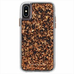 【 ロースゴールドの金箔を大胆にデザイン】iPhoneXS/X Karat-Rose Gold