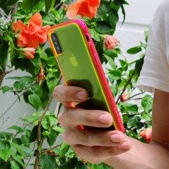 【大胆なネオンカラーがインパクト大!】iPhone XS/X  Tough Clear - Neon Green/Pink Neon