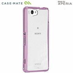【衝撃に強いケース】 Sony Xperia A2 SO-04F/J1 Compact/Z1 f SO-02F Hybrid Tough Naked Case Clear/Lavender