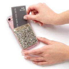 【ケース貼るだけでカードホルダー機能の追加が出来る!ステッカー型ポケット】 ID Pocket Glitter Champagne