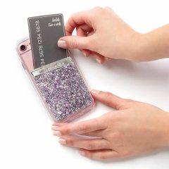 【ケース貼るだけでカードホルダー機能の追加が出来る!ステッカー型ポケット】 ID Pockets Glitter Silver