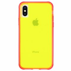 【大胆なネオンカラーがインパクト大!】iPhone iPhoneXS Max  Tough Clear - Neon Green/Pink Neon