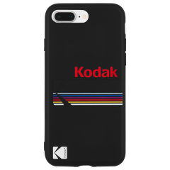 【Case-Mate×Kodak コラボ】  iPhone 8 Plus Case Kodak Matte Black + Shiny Black Logo