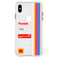 【Case-Mate×Kodak コラボレーション】  iPhone X/XS Case Kodak Striped Kodachrome Super 8